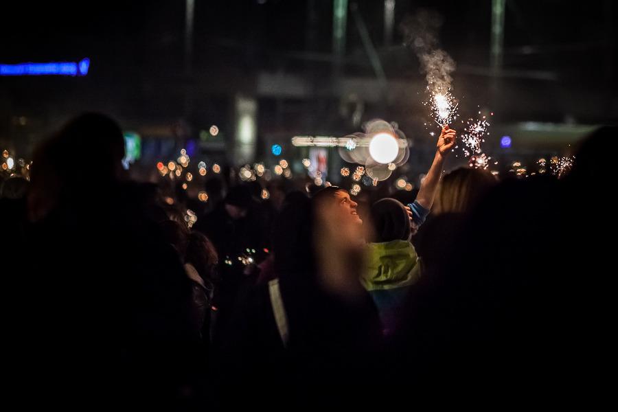 Wunderkerzen Flashmob in Leipzig